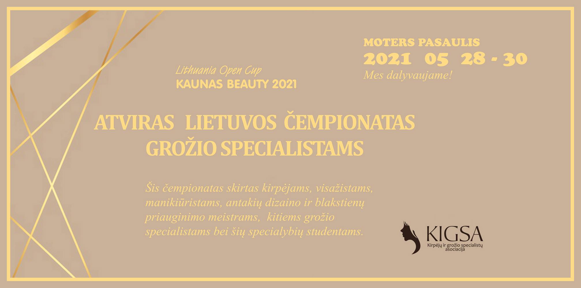 ATVIRAS LIETUVOS ČEMPIONATAS KAUNAS BEAUTY 2021