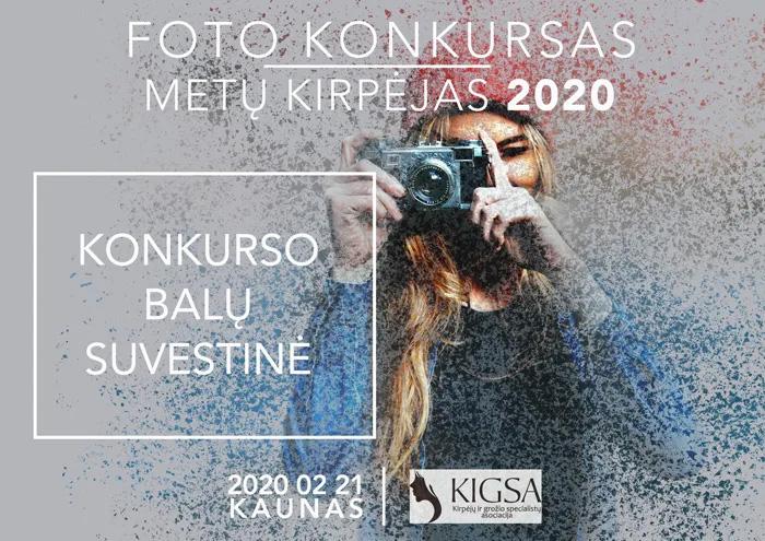 FOTO KONKURSO METŲ KIRPĖJAS 2020 REZULTATAI
