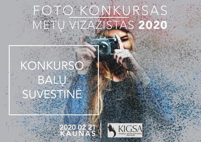 FOTO KONKURSO METŲ VIZAŽISTAS 2020 REZULTATAI