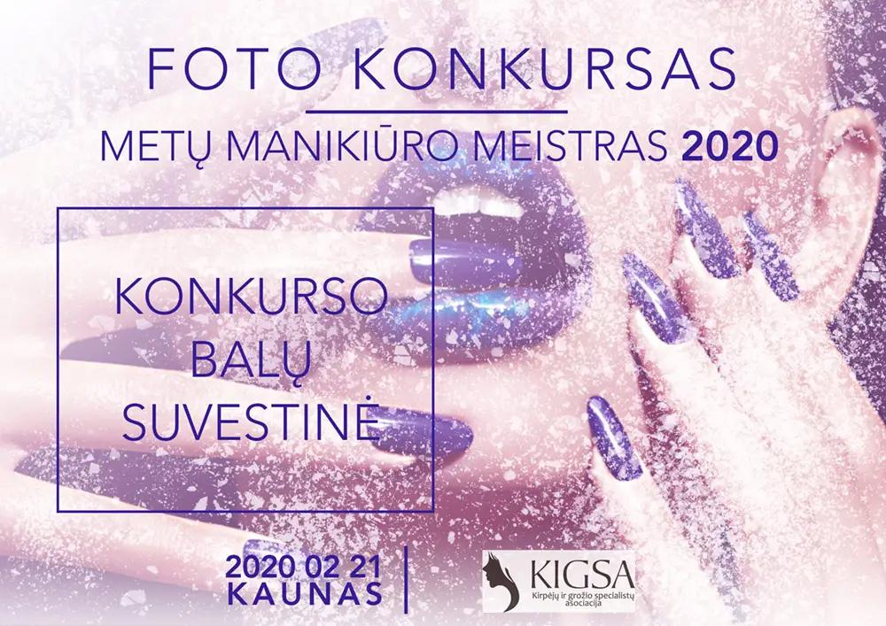 FOTO KONKURSO METŲ MANIKIŪRO MEISTRAS 2020 REZULTATAI
