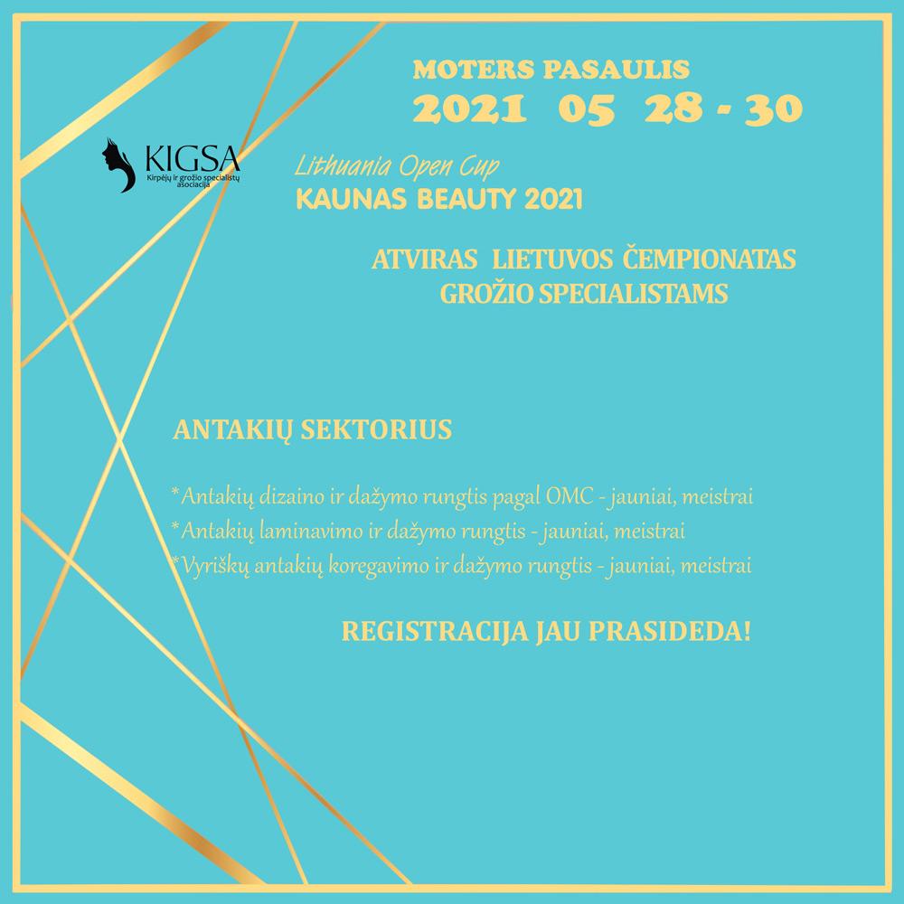 REGISTRACIJA ANTAKIŲ MEISTRAMS – KAUNAS BEAUTY 2021