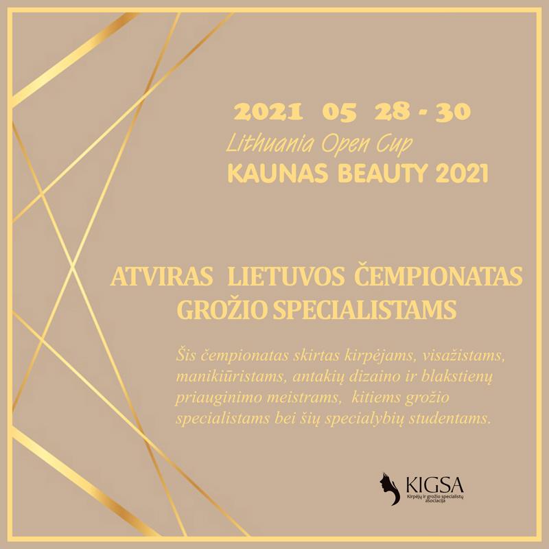 ATVIRO ČEMPIONATO KAUNAS BEAUTY 2021 – TVARKARAŠTIS