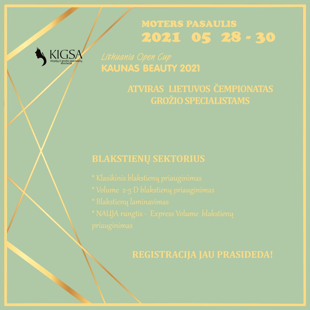 REGISTRACIJA BLAKSTIENŲ MEISTRAMS – KAUNAS BEAUTY 2021
