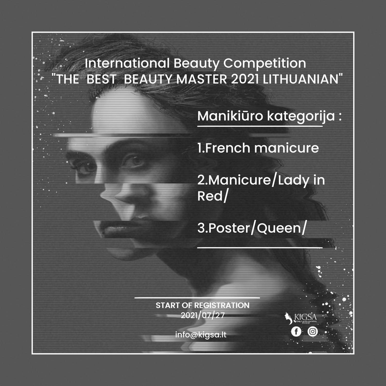 REGISTRACIJA MANIKIŪRO MEISTRAMS – International Beauty Competition 2021